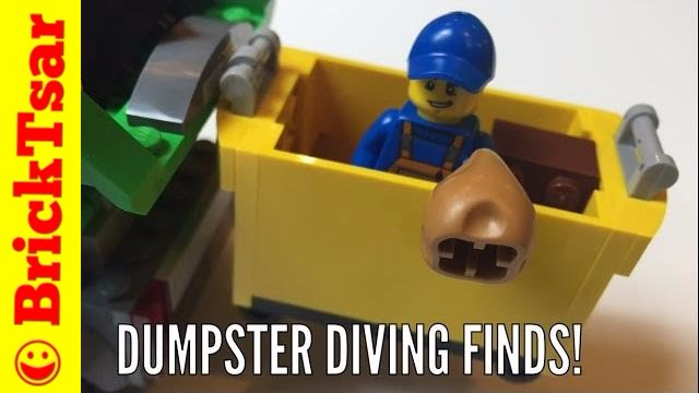 BAT Best Dumpster Diving Finds - Anything LEGO? - YouTube