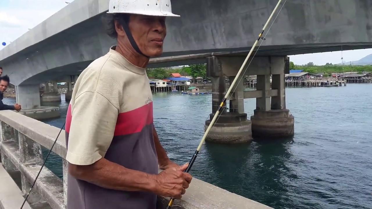 ตกเบ็ดปลาขี้ตัง ปลาทะเล สะพานสารสิน ภูเก็ต