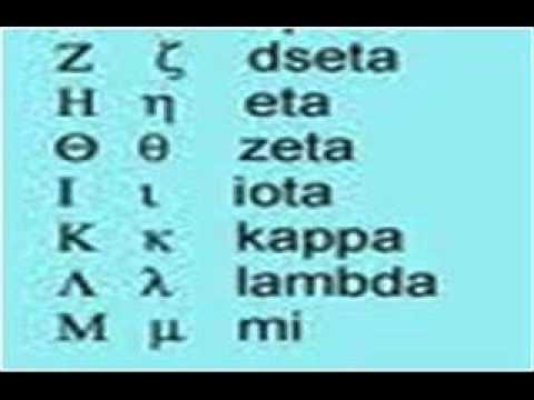 Alfabeto Griego ( pronunciación correcta) 1- lección