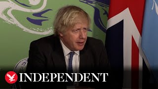 Boris Johnson says climate change threat to global security is of 'paramount importance'