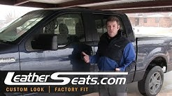 2004-2008 Ford F-150 D.I.Y. custom leather interior kit Installation Part 1 of 5 - LeatherSeats.com