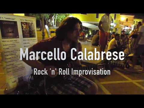 "Marcello Calabrese Plays His Own Composition ""Rock 'n' Roll Improvisation"" In San Teodoro-Sardinia"