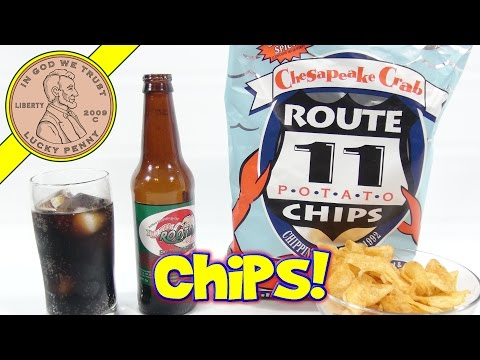 Chesapeake Crab Route 11 Potato Chips & Old Town Root Beer Sarsaparilla!