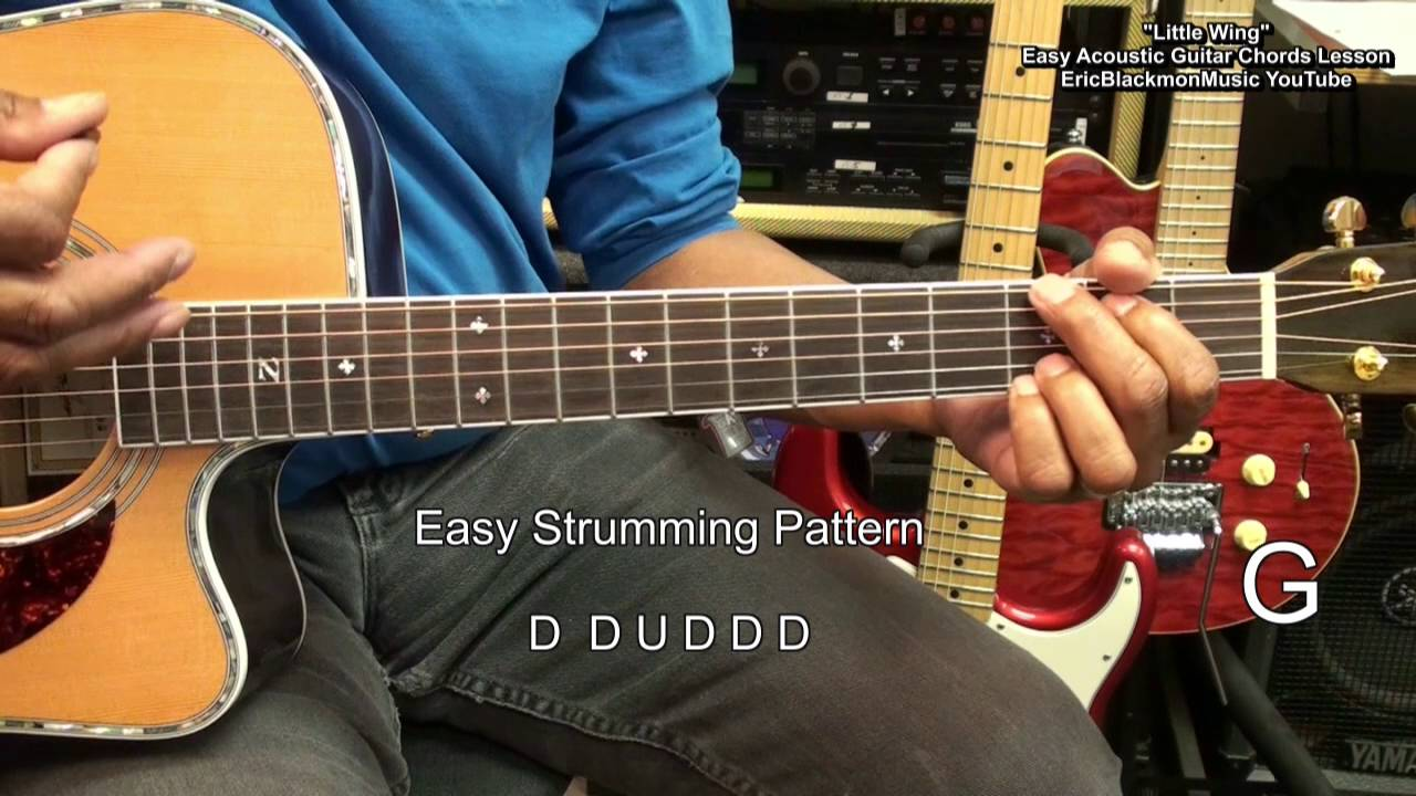 how to play little wing for dummies jimi hendrix easy acoustic guitar lesson ericblackmonguitar. Black Bedroom Furniture Sets. Home Design Ideas