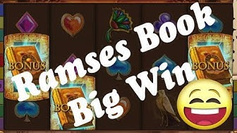 Online Casino Slots - Ramses Book - Low bet Big Win - Freispiele