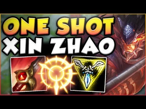 ONE COMBO = ONE KILL?? WTF! ONE SHOT XIN ZHAO TOO OP! XIN ZHAO JUNGLE GAMEPLAY! - League of Legends