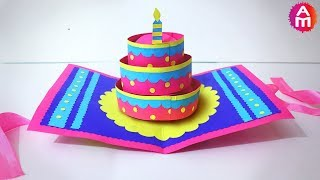 DIY Beautiful Handmade Happy Birthday Card 3D Cake Pop Up Card Artsy Madhu 35