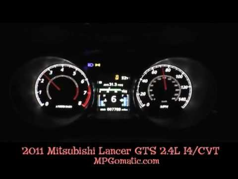 2011 Mitsubishi Lancer GTS 0 60 MPH   YouTube