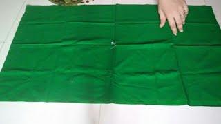 Easy blouse cutting/ఆది బ్లౌజ్ తో బ్లౌజ్ ను కట్ చేయు విధానం.