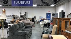 GOODWILL FURNITURE SOFAS CHAIRS TABLES HOME DECOR - SHOP WITH ME SHOPPING STORE WALK THROUGH 4K