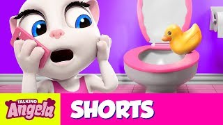 ⚡ Bathroom Drama ⚡ Talking Angela Cartoon Short thumbnail