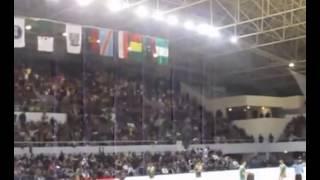 هتاف فلسطين الشهداء يدوي في صالة كرة اليد بالجزائر
