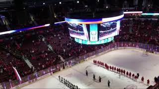 МЧМ-2019: Российский гимн в Ванкувере после победы над Канадой