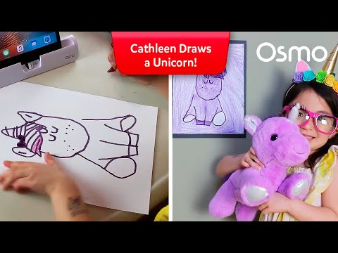 Osmonaut Cathleen draws a unicorn with Osmo Masterpiece