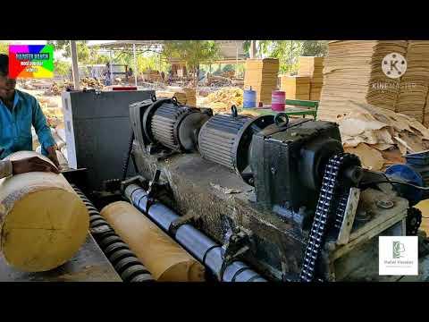 Amazing Manufacturing Process of Veneer Peeling Machine, Woodworking Machine - Rajveer Vansh