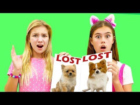 Настя и Артем - история для детей про потерянного щенка