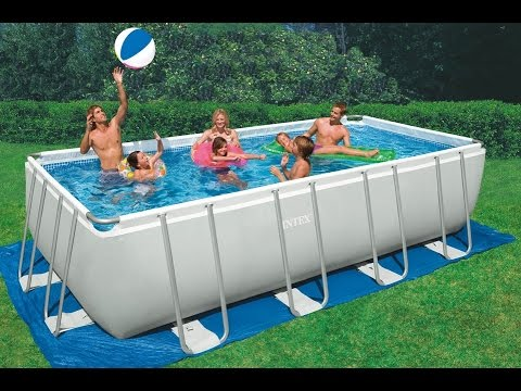 Piscina fuoriterra intex rettangolare metal ultra frame youtube - Intex piscine fuori terra ...