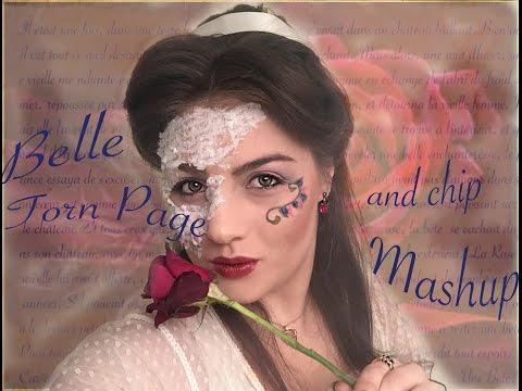 Belle Chip Book Mashup Disney Princess Inspired Fantasy