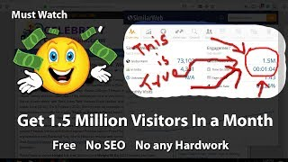 [हिंदी] How To Get 1 5 Million Visitors In a Month 2018