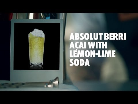 ABSOLUT BERRI AÇAI WITH LEMON-LIME SODA DRINK RECIPE - HOW TO MIX