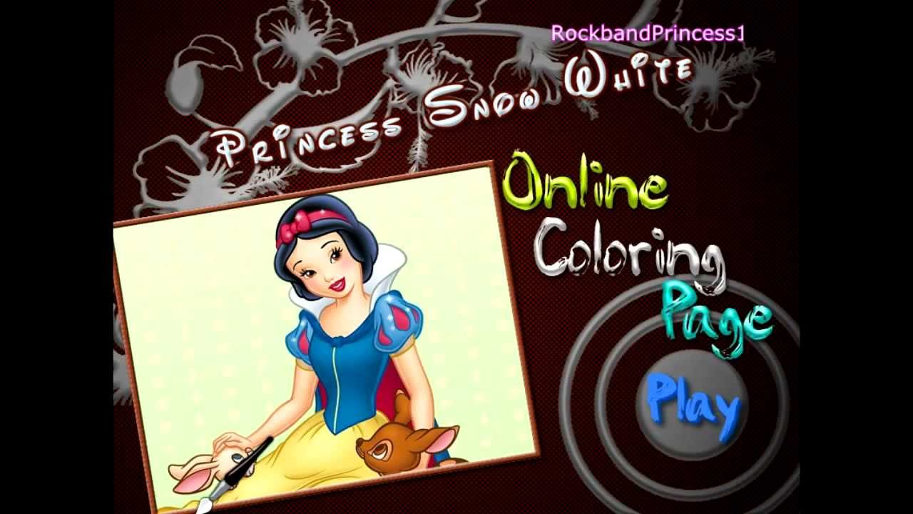 disney coloring games snow white coloring games for girls youtube