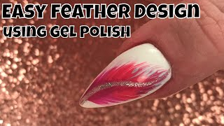 Easy Feather Design using Gel Polish