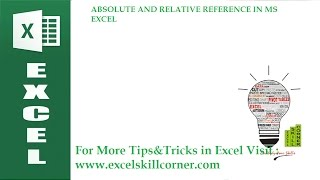 ABSOLUTE AND RELATIVE REFERENCE IN MS EXCEL IN MALAYALAM