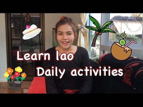 Learn lao Daily activities