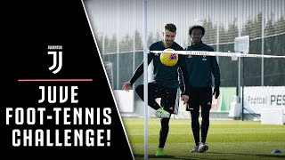 JUVENTUS FOOT-TENNIS CHALLENGE! ⚽️🎾 | FEAT. TRAINING DRILLS 🏃🏻