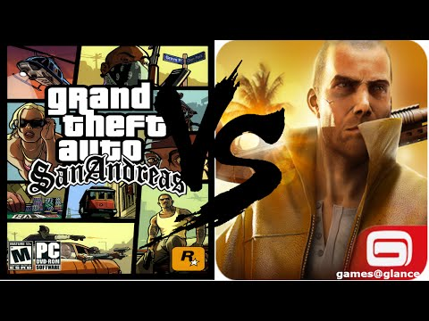 GTA San Andreas vs Gangstar Vegas Comparison Review