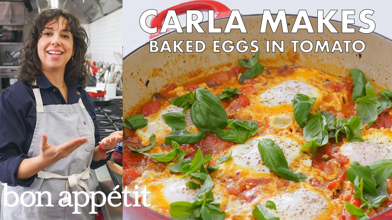 Carla Makes Baked Eggs in Tomato | From the Test Kitchen | Bon Appétit