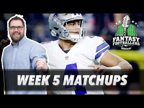Fantasy Football 2017 - Week 5 Matchups, In-or-Out, Bold Bets - Ep. #452