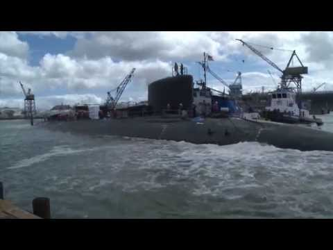 Virginia-Class Submarine John Warner (SSN 785) Launched for Final Outfitting and Testing