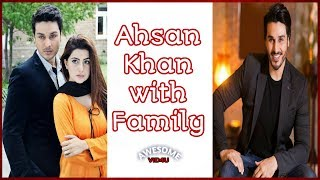 Ahsan Khan Beautiful Family Pic - Ahsan Khan Pictures With His Wife and Kid