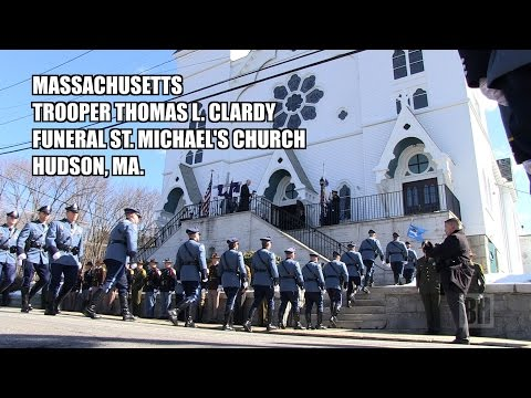Mass.Trooper Thomas Clardy Funeral St. Michael