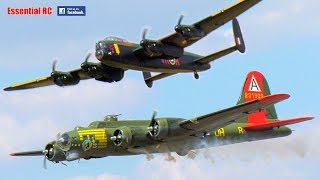 GIANT SCALE radio controlled (RC) WW2 BOMBERS ! Magnificent B-17 Flying Fortress and Avro Lancaster