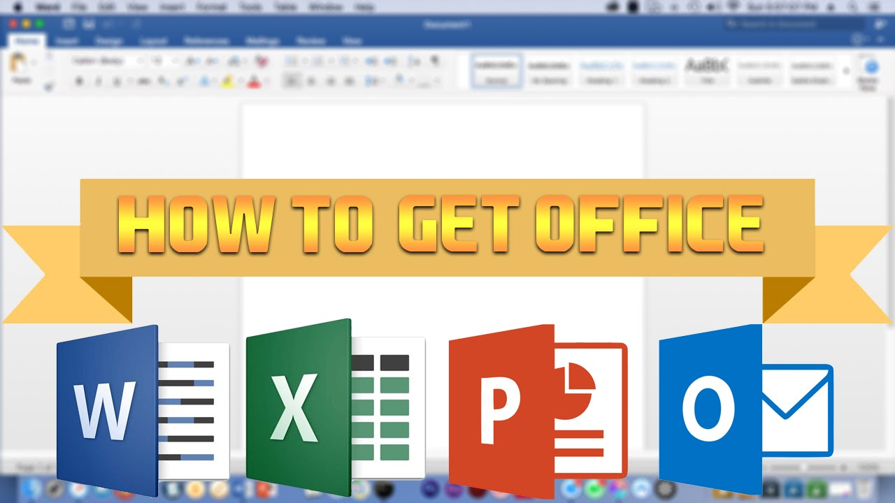 how to get microsoft office for mac air