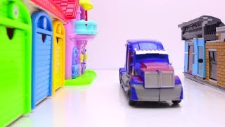 Transformers Stop Motion Part 2 - Optimus Prime, Super Wing, Tobot Lego Animation Robot car for kids