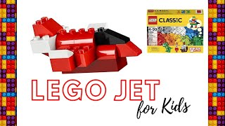 How to make LEGO Jet | LEGO for Kids | LEGO for Begineers | LEGO Classic | LEGO JET | Simple LEGO