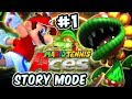 ABM: Mario Tennis Aces Gameplay Adventure !! Walkthrough # 1 HD