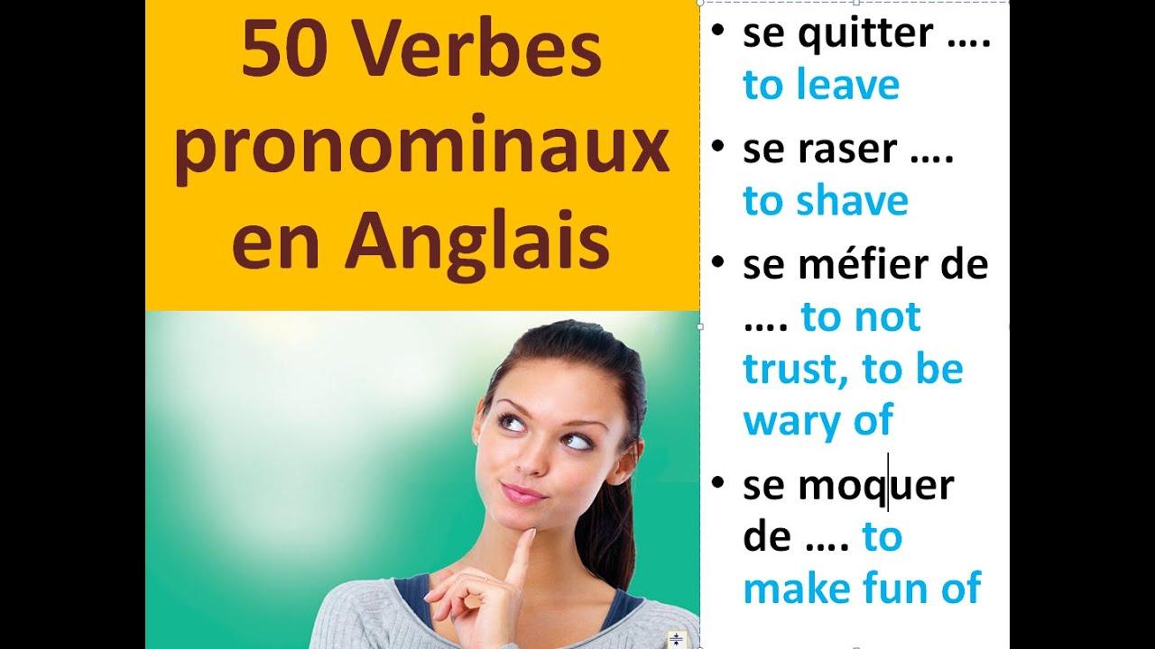 50 Verbes Pronominaux Les Plus Utilises Et Leurs Significations En Anglais Youtube