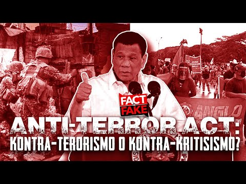 Fact or Fake: Anti-Terror Act, kontra-terorismo o kontra-kri