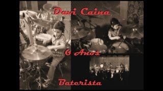 Davi Caina 6 anos tocando bateria Deus da minha vida - Thalles na Igreja Crista Batista Renovada