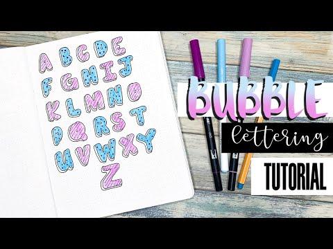 Bubble Letters Tutorial | Bullet Journal Lettering