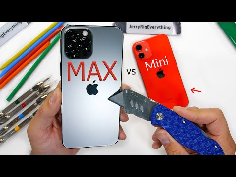 iPhone 12 Pro Max vs iPhone Mini - Durability Test!!
