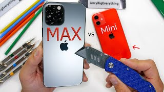 iPhone 12 Pro Max vs iPhone Mini - Durability Test!!