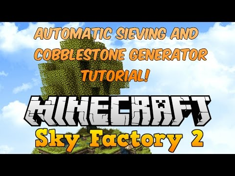 how to make an automatic cobblestone generator in sky factory