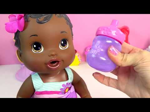 Baby Alive Bitsy Burpsy Spit Up On Color Change Cloth + Wets Diaper Doll - Toy Video Cookieswirlc