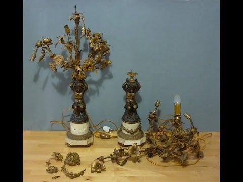 Restoring two antique lamps part-1