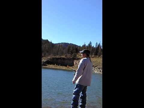 Trout fishing @ Grindstone Lake, Ruidoso, NM. Late summer 2014
